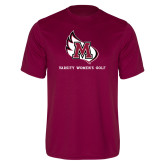 Performance Maroon Tee-Varsity Womens Golf