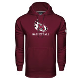 Under Armour Maroon Performance Sweats Team Hood-Basketball