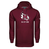 Under Armour Maroon Performance Sweats Team Hood-Soccer