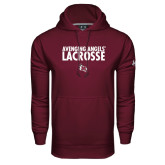 Under Armour Maroon Performance Sweats Team Hoodie-Lacrosse Design