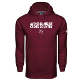 Under Armour Maroon Performance Sweats Team Hood-Cross Country Design