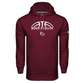 Under Armour Maroon Performance Sweats Team Hoodie-Basketball Design
