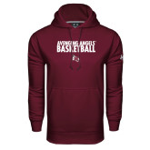 Under Armour Maroon Performance Sweats Team Hood-Basketball Design