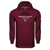 Under Armour Maroon Performance Sweats Team Hood-Soccer Design