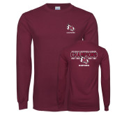 Maroon Long Sleeve T Shirt-USA South Conference Lacrosse Champions