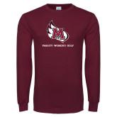 Maroon Long Sleeve T Shirt-Varsity Womens Golf