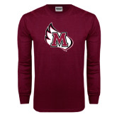 Maroon Long Sleeve T Shirt-M Wing Icon