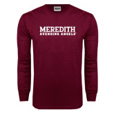 Maroon Long Sleeve T Shirt-Wordmark