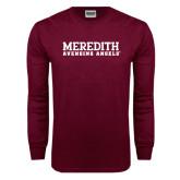 Maroon Long Sleeve T Shirt-Wordmark