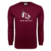 Maroon Long Sleeve T Shirt-Track & Field