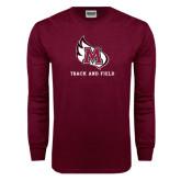 Maroon Long Sleeve T Shirt-Track & Field