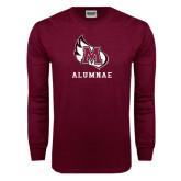 Maroon Long Sleeve T Shirt-Alumnae