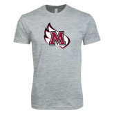 Next Level SoftStyle Heather Grey T Shirt-M Wing Icon