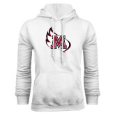 White Fleece Hoodie-M Wing Icon