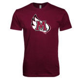 Next Level SoftStyle Maroon T Shirt-M Wing Icon