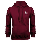 Maroon Fleece Hoodie-Primary Mark Stacked