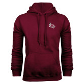 Maroon Fleece Hoodie-M Wing Icon