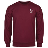 Maroon Fleece Crew-Primary Mark Stacked