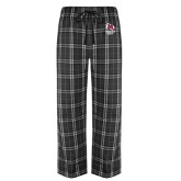 Black/Grey Flannel Pajama Pant-Primary Mark Stacked