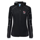 Columbia Ladies Sweet As Softshell Black Jacket-Primary Mark Stacked