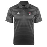 Adidas Climalite Charcoal Jaquard Select Polo-Primary Mark Stacked
