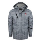 Grey Brushstroke Print Insulated Jacket-Primary Mark Stacked