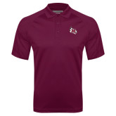 Maroon Textured Saddle Shoulder Polo-M Wing Icon
