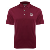 Maroon Dry Mesh Polo-Primary Mark Stacked
