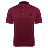 Maroon Dry Mesh Polo-Primary Mark Tone