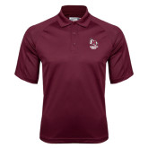 Maroon Dri Mesh Pro Polo-Primary Mark Stacked