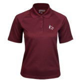 Ladies Maroon Textured Saddle Shoulder Polo-M Wing Icon