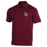 Under Armour Maroon Performance Polo-Primary Mark Stacked