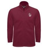 Fleece Full Zip Maroon Jacket-Primary Mark Stacked