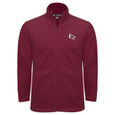 Fleece Full Zip Maroon Jacket-M Wing Icon