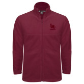 Fleece Full Zip Maroon Jacket-Primary Mark Tone