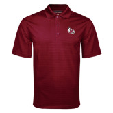 Maroon Mini Stripe Polo-M Wing Icon