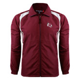 Colorblock Maroon/White Wind Jacket-M Wing Icon