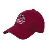 Maroon Heavyweight Twill Pro Style Hat-Primary Mark Stacked
