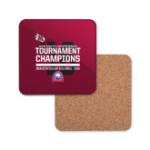 Hardboard Coaster w/Cork Backing-2016 USA South Volleyball Tournament Champions
