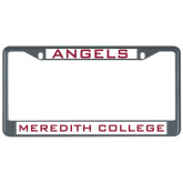 Metal License Plate Frame in Black-Angels