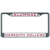 Metal License Plate Frame in Black-Alumnae