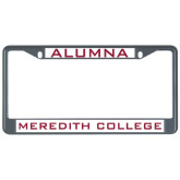 Metal License Plate Frame in Black-Alumna