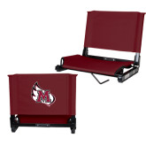 Stadium Chair Maroon-M Wing Icon