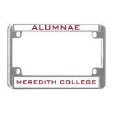 Metal Motorcycle License Plate Frame in Chrome-Alumnae