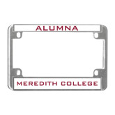 Metal Motorcycle License Plate Frame in Chrome-Alumna