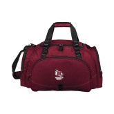 Challenger Team Maroon Sport Bag-Primary Mark Stacked