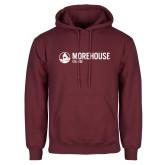 Maroon Fleece Hoodie-Morehouse College Logo