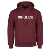 Maroon Fleece Hoodie-Morehouse