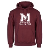 Maroon Fleece Hoodie-Morehouse Track and Field