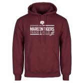Maroon Fleece Hoodie-Track and Field Graphic